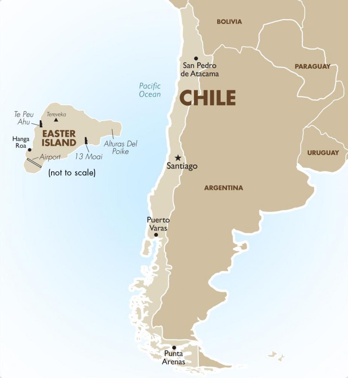 Carte Du Chili Et île De Pâques Carte Du Chili Y Compris