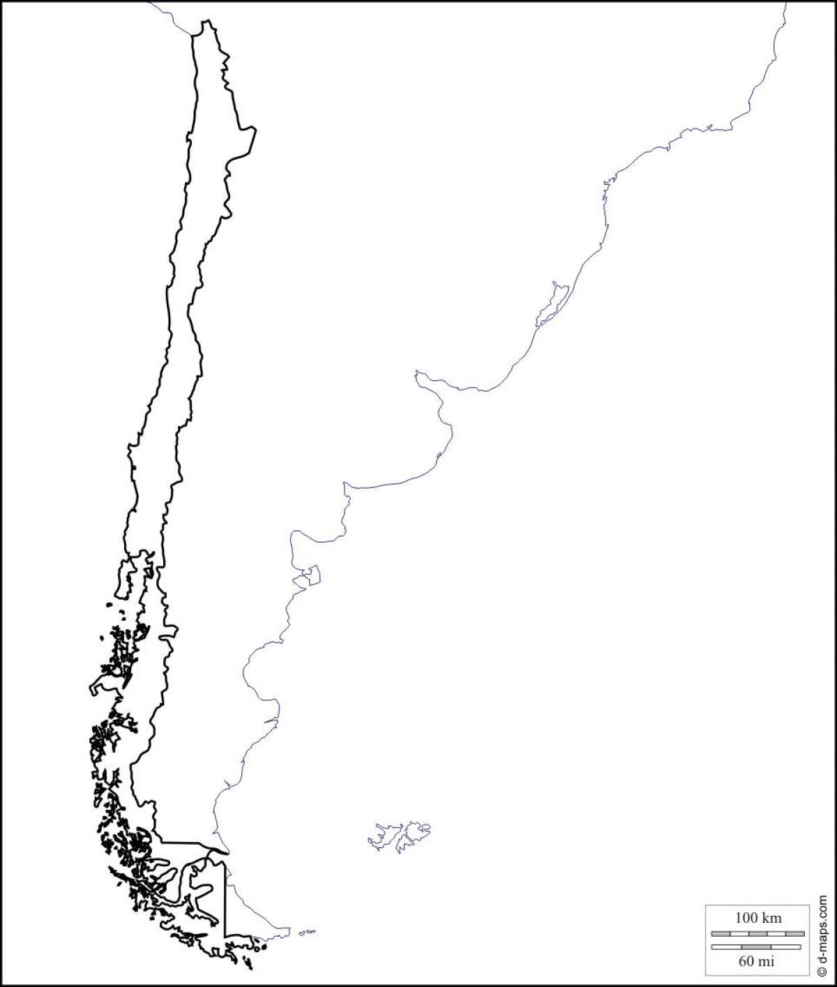Chili Carte Vierge Vierge Carte Du Chili Amérique Du Sud
