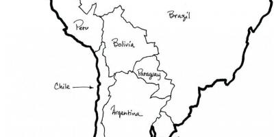Carte du Chili aperçu